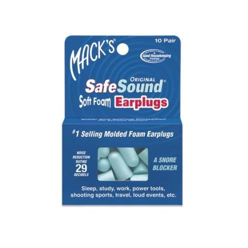 Mack's Safe Sound Soft Foam Earplugs 10 pr