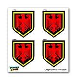 German Germany Crest Shield - Set of 4 - Window Bumper Laptop Stickers