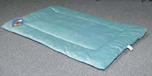 Sofantex Deluxe Reversible Plush Pet Bed / Pillow / Crate Pad (Blue, XL 42X28+6)