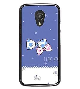 Bow Pair 2D Hard Polycarbonate Designer Back Case Cover for Meizu M1 Note