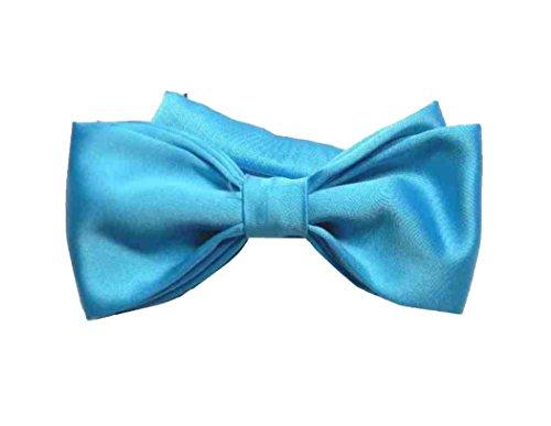 Avantgarde - Papillon Uomo Tinta Unita Made in Italy Cravatta Farfalla Bow-Tie Tanti Colori, Colore: Turchese
