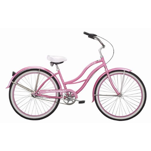 Ladies 3 Speed Beach Cruiser Bicycle - Tahiti NX3 - White