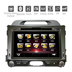 See 2Din Car DVD Player for KIA SPORTAGE R with 7.0 Inch Digital Touchscreen GPS Bluetooth PIP Details