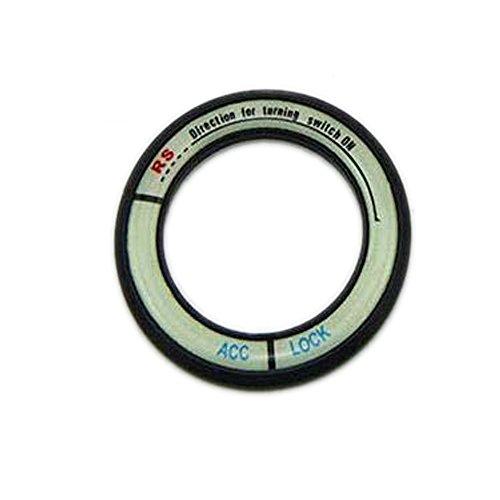 PolarLander l'accensione Portachiavi Accendere decorativi anello luminoso Auto ACC Blocco Circles Adesivi copertura per H-ighlander Car-NERO