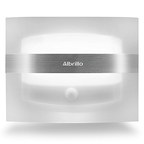 Albrillo Motion Sensor Night Light Battery Powered LED Wall Sconce (Battery Powered Lighting compare prices)