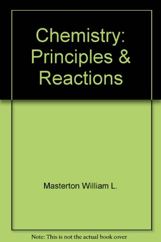 Student Solutions manual for Chemistry, Principles & Reactions
