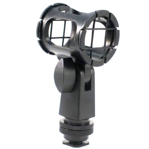 Polaroid Microphone Shock Mount With Dual Mount design (Shoe Mount, 1/4 20, 5/8)