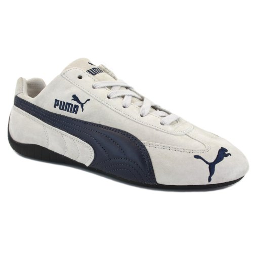 puma navy suede trainers
