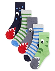 5 Pairs of Cotton Rich Crocodile Socks