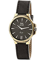 WATCH ME Black Leather Black Dial Watch For Men Black Leather Black Dial Watch For Men Watch MeAL-186