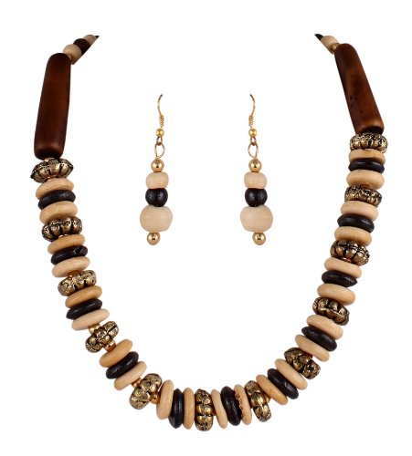 Sharnam Art Tribal / Ethnic master piece Necklace Set in Brown color