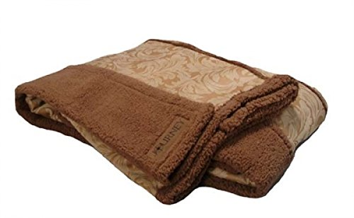 Scene Weaver Journey Faux Suede And Fleece Throw, Saddle Brown, 50 By 70-Inch