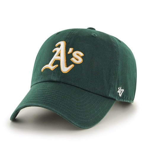 47 Brand - Oakland Athletics Mlb Clean Up Cappellino Regolabile Verde