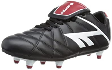 Hi-Tec League Pro, Unisex-Adult Football Boots, Black/White/Red, 7 UK