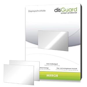 2 x disGuard Mirror Miroir-Film protecteur d'écran pour Fujifilm X-A1 / XA1 / XA-1 - Protection d'écran entièrement étamée, revêtement dur adhésif! Haut de gamme - Fabriqué en Allemagne