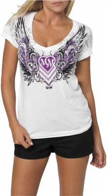 MSR Metal Mulisha Gatewary Ladies T-Shirt Gateway White Extra Large XL 886152975966