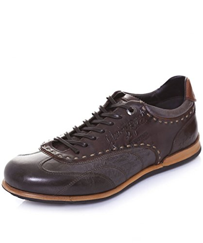 La Martina Uomo Sneaker in pelle Opus 45 T-moro