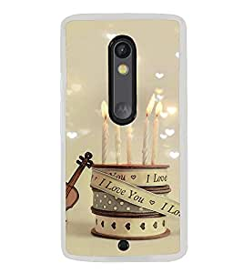 I Love you candles 2D Hard Polycarbonate Designer Back Case Cover for Motorola Moto X Play