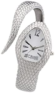 Just Cavalli Ladies Poison Analogue Watch R7253153645 with Quartz Movement, Stainless Steel Bracelet and Silver Dial