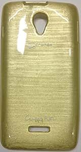 MACC Premium Glossy Soft Silicon Back Case Cover For Micromax Canvas Fun A76 - Golden