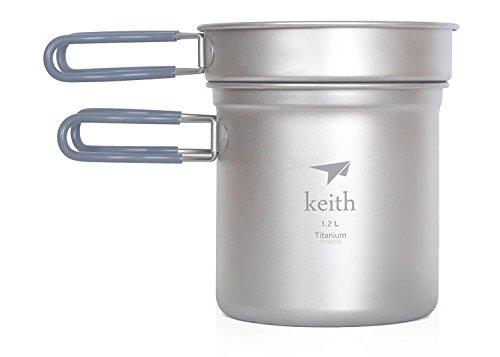 Titanium Pot Camping Cookware Titanium Cookware 400Ml+1200Ml 193G front-430672