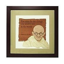 "The Bombay Store Wood & Glass Frame - Mahatma Gandhi L 10"" H 10"""