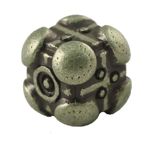 1 (One) Single IronDie: Solid Metal Italian Dice - Green Powerup (Die-Cast Designer Six-Sided Die / d6)