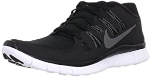 Nike Free 5.0+ Black/Dark Grey/White/Mtlc Dark Grey 579959-002 (SIZE: 10)