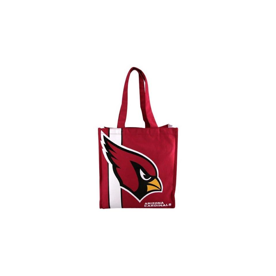 NFL Arizona Cardinals Red Team Stripe Canvas Tote
