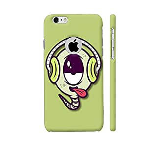 Colorpur Music Buff On Green Designer Mobile Phone Case Back Cover For Apple iPhone 6 / 6s with hole for logo | Artist: Neeja Shah