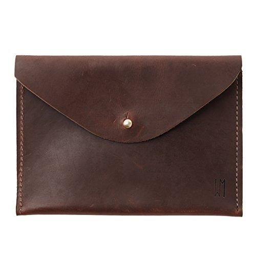 Waltzing Matilda Leather Aberdeen Clutch, Dark Brown