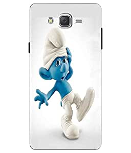 Make My Print Cartoon Printed White Hard Back Cover For Samsung Galaxy J2