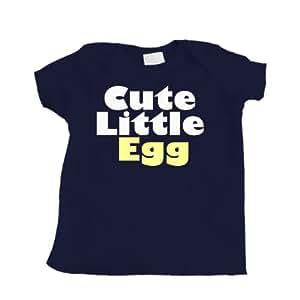 Cute Little Egg Navy Blue Baby T-Shirt (6 month)