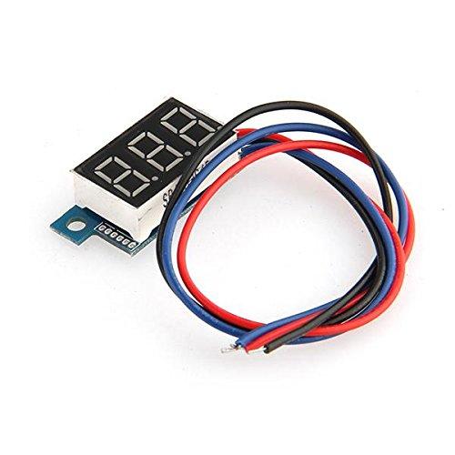 Dc 3V-200V Mini Digital Voltmeter Voltage Meter 3 Wire Red Led Display