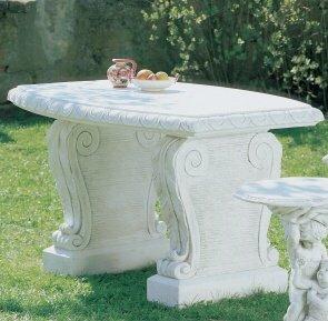 Universaltisch Tisch aus Betonwerkstein robuster Gartentisch rund bestellen