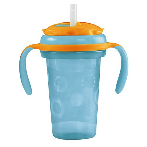 Fisher-Price Stack 'N Store Sippy Cup With Straw, Boy, 8 Ounce front-96547