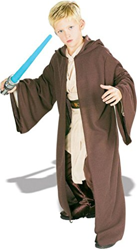 Boys Jedi Robe Deluxe Kids Child Fancy Dress Party Halloween Costume