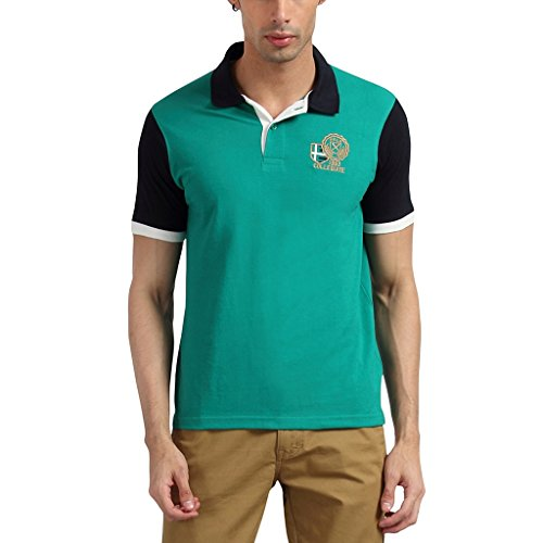 Proline Men Half Sleeve Green Polo T Shirt  available at amazon for Rs.399