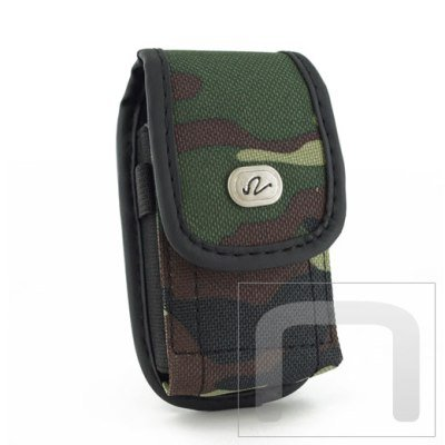 Camouflage Design Vertical Heavy Duty Rugged Cover Belt Clip Side Case For AT&T Z221