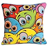 Swayam Kids N More Digital Print Mercerised Cotton 2 Piece Kids Cushion Cover Set - Multicolor (KCC 122-121)
