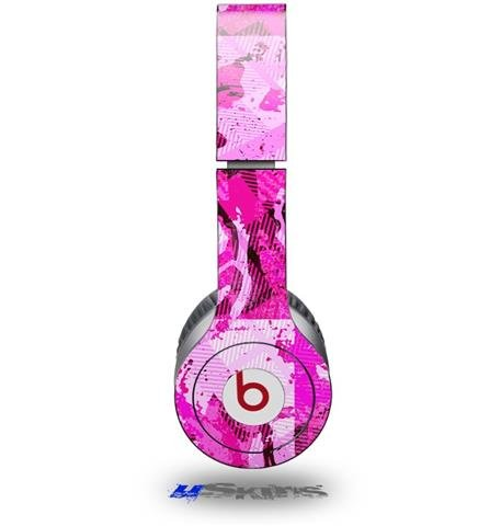 Pink Plaid Graffiti Decal Style Skin (Fits Beats Solo Hd Headphones - Headphones Not Included)