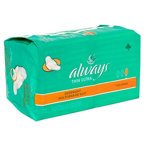 Always Ultra Maxi Pads, Overnight, Flexi-Wings, 28-Pack