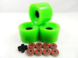 Buy Big Boy 65mm Gel Solid Skateboard Wheels + ABEC 7 Bearings Spacers by Big Boy