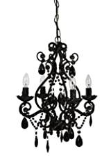 Tadpoles Four Bulb Chandelier, Black