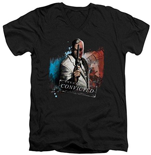 Batman Arkham City Two Face Slim Fit V-Neck T-Shirt