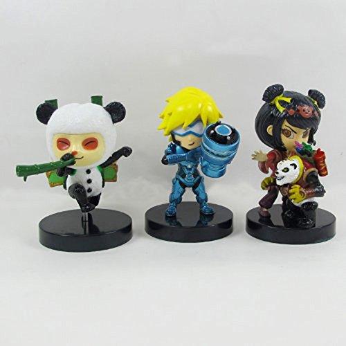Andonger League Of Legends Lol Set Di 3Pcs Ezreal & Teemo Panda & Annie E Tibber Skin Doll / Figura 11cm