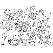 Disney Toy Story 3 Jumbo Coloring Puzzle - 1