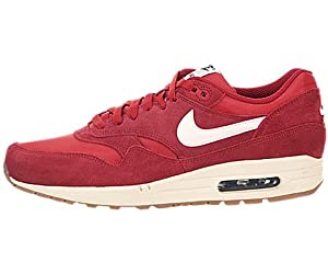 Nike Air Max 1 Essential - Gym Red / Sail-Black-Black, 10.5 D US