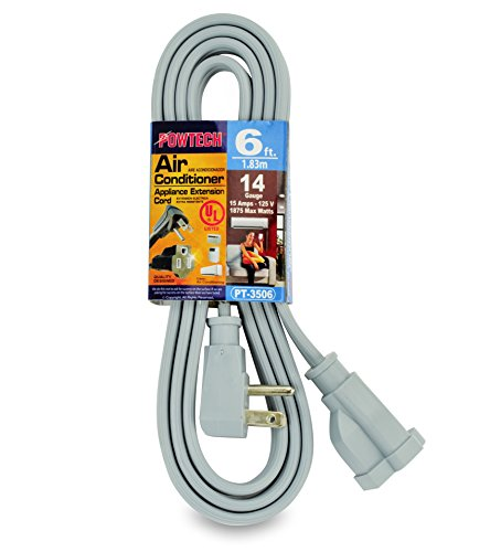PowTech 6 Foot Air Conditioner and Appliance Extension Cord UL Listed