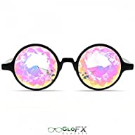 GloFX Black Kaleidoscope Glasses- Rai…